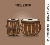 indian drums percussion... | Shutterstock .eps vector #1082591918