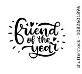 best friends. the inscription... | Shutterstock .eps vector #1082601896