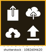 set of 4 upload filled icons... | Shutterstock .eps vector #1082604620