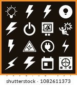 set of 16 electricity filled... | Shutterstock .eps vector #1082611373