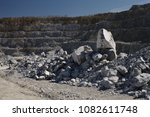 stone placer of limestone ore...   Shutterstock . vector #1082611748