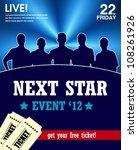 star talent show poster  web...   Shutterstock .eps vector #108261926