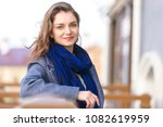 beautiful elegant woman looks... | Shutterstock . vector #1082619959