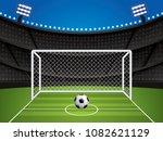 soccer  football stadium ... | Shutterstock .eps vector #1082621129