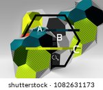 3d hexagon geometric... | Shutterstock .eps vector #1082631173