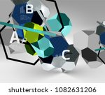 3d hexagon geometric... | Shutterstock .eps vector #1082631206