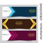 set of modern vector banners... | Shutterstock .eps vector #1082635040