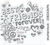 Hand Drawn Best Friends Foreve...