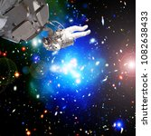 astronaut and deep space. the...   Shutterstock . vector #1082638433