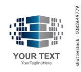 pixel wall corner logo element... | Shutterstock .eps vector #1082649779