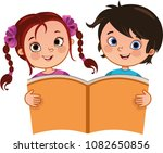 vector illustration of girl and ... | Shutterstock .eps vector #1082650856