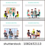 business meeting promo banners... | Shutterstock .eps vector #1082652113
