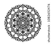 mandala tattoo design element.... | Shutterstock .eps vector #1082652476