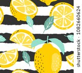 seamless summer pattern with... | Shutterstock .eps vector #1082660624