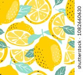 seamless summer pattern with... | Shutterstock .eps vector #1082660630