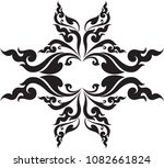 abstract swirl floral butterfly ...   Shutterstock .eps vector #1082661824