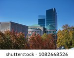 View of Raleigh North Carolina with the Museums of Natural Sciences and History in the background