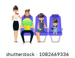 happy cartoon family travel.... | Shutterstock .eps vector #1082669336