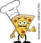 cartoon illustration of a slice ... | Shutterstock . vector #1082671763