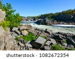 great falls on the potomac river | Shutterstock . vector #1082672354