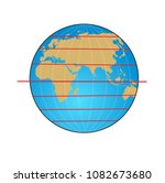 geographic coordinate system of ... | Shutterstock . vector #1082673680