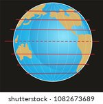 geographic coordinate system of ... | Shutterstock . vector #1082673689