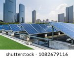 solar and modern city skyline   | Shutterstock . vector #1082679116