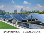 solar and modern city skyline   | Shutterstock . vector #1082679146