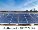 solar and modern city skyline   | Shutterstock . vector #1082679176