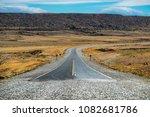 end of the asphalt road named... | Shutterstock . vector #1082681786