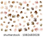 hands with skin color diversity ... | Shutterstock .eps vector #1082683028