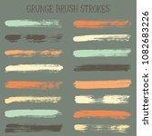 modern watercolor daubs set ... | Shutterstock .eps vector #1082683226