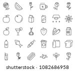 thin line icon set  ... | Shutterstock .eps vector #1082686958