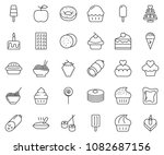 thin line icon set   sausage... | Shutterstock .eps vector #1082687156