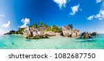 panorama of anse source d... | Shutterstock . vector #1082687750