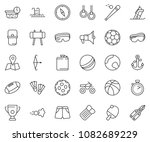 thin line icon set   stopwatch... | Shutterstock .eps vector #1082689229