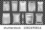 big set of transparent empty... | Shutterstock .eps vector #1082690816
