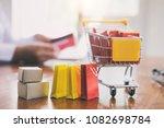 business theme internet online...   Shutterstock . vector #1082698784