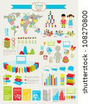 back to school infographic set... | Shutterstock .eps vector #108270800