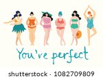 you're perfect. vector... | Shutterstock .eps vector #1082709809