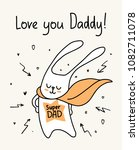 happy father s day card with... | Shutterstock .eps vector #1082711078
