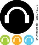 headphones   vector icon... | Shutterstock .eps vector #108271178