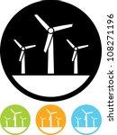 eco green energy windmills  ... | Shutterstock .eps vector #108271196