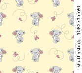 seamless pattern with cute... | Shutterstock .eps vector #1082715590