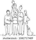 family. line drawing | Shutterstock .eps vector #1082717489