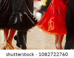 two pairs dancers in ballroom... | Shutterstock . vector #1082722760