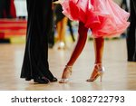 couple feet of dancers  woman... | Shutterstock . vector #1082722793