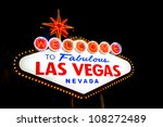 welcome to fabulous las vegas... | Shutterstock . vector #108272489