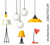set of lamps. furniture... | Shutterstock .eps vector #1082743139