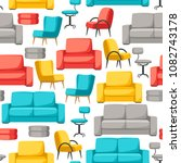 interior and furniture seamless ... | Shutterstock .eps vector #1082743178
